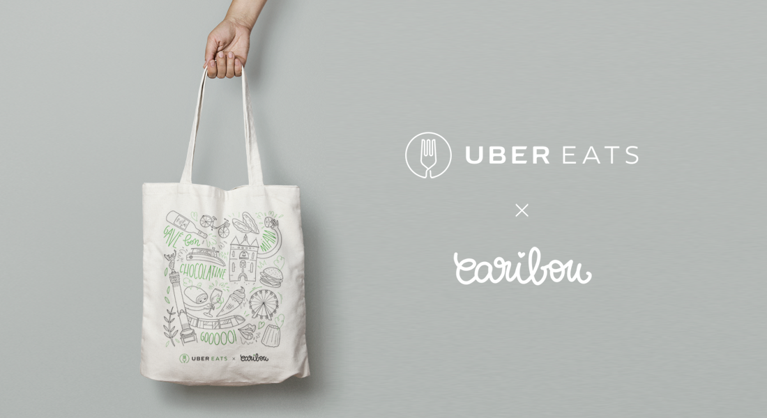 Uber Eats I illustrations totebag évènementiel
