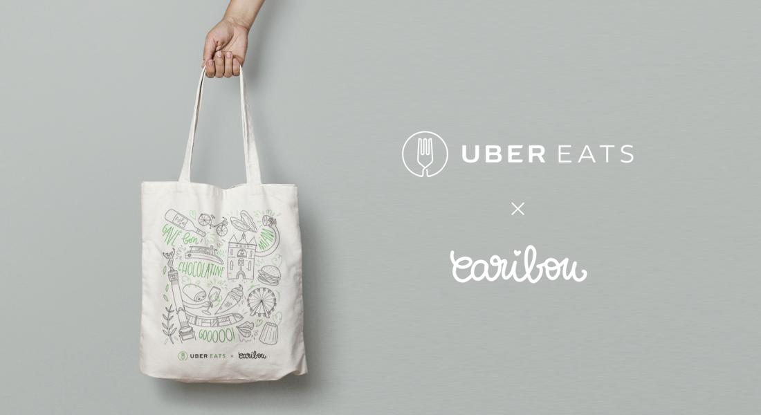 Uber Eats I illustrations totebag évènementiel