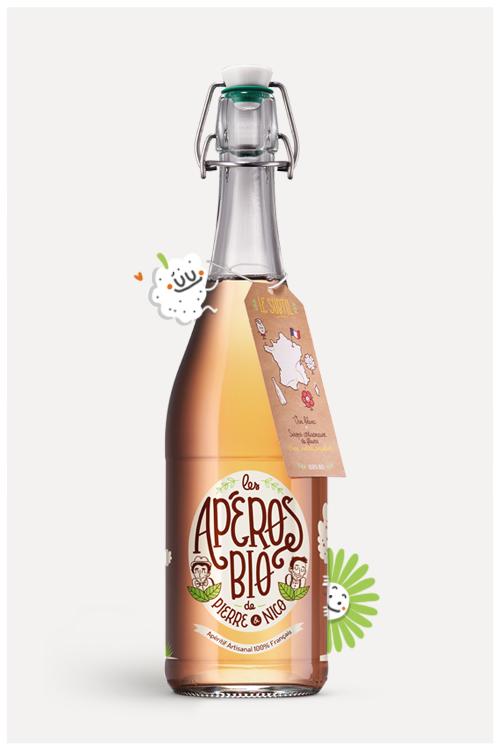 Les Apéros Bio { packaging sérigraphié }